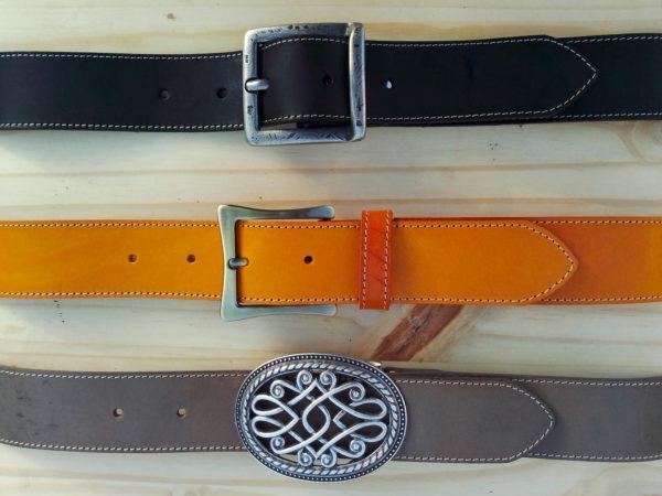 ensemble de ceintures en cuir de 4 cm de largeur