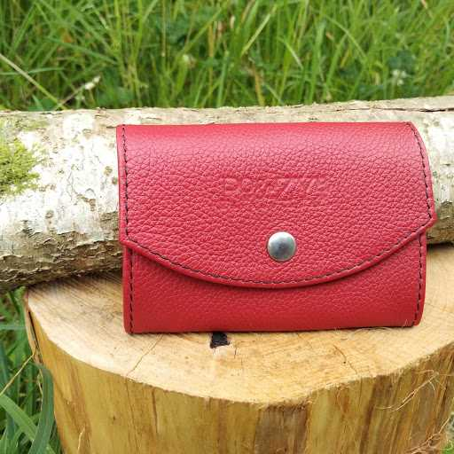 portefeuille cuir rouge artisanal Po&Zya