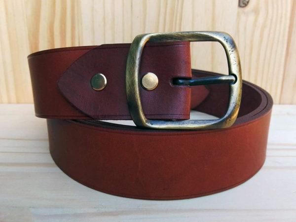 ceinture marron 4cm