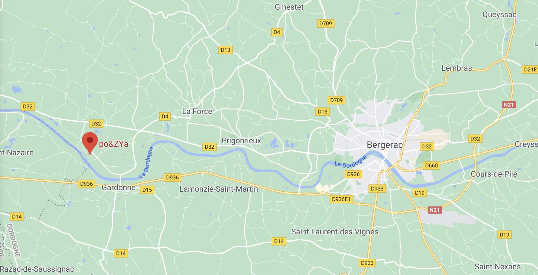 copie ecran maps Google Po&zya