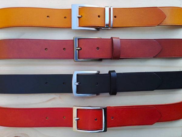 ensemble de ceintures en cuir sans surpiqure de 3,5 cm de largeur