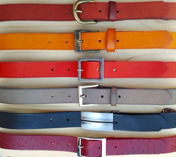ensemble ceintures en cuir sans surpiqure de 3 cm de largeur