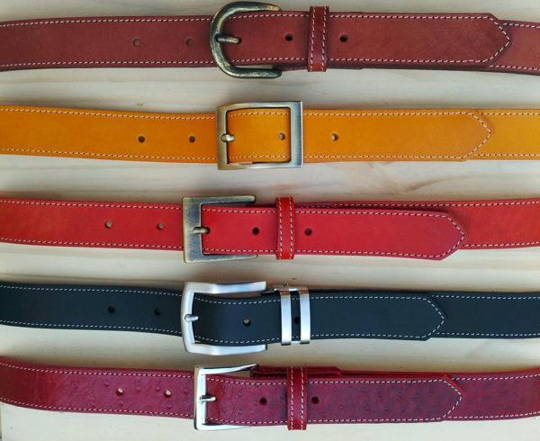 ensemble de ceintures en cuir de 3 cm de largeur