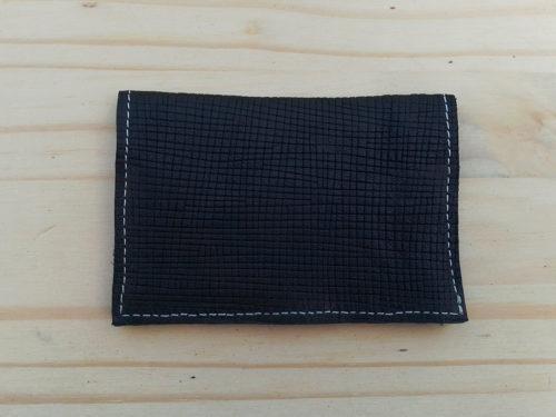 porte-cartes en cuir bleu marine