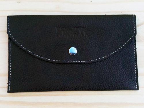 porte-document en cuir noir Po&ZYa