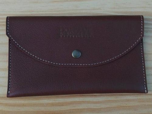 porte-documents en cuir marron chocolat