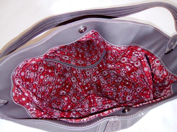 sac AmaZYa Nubuck gris intérieur