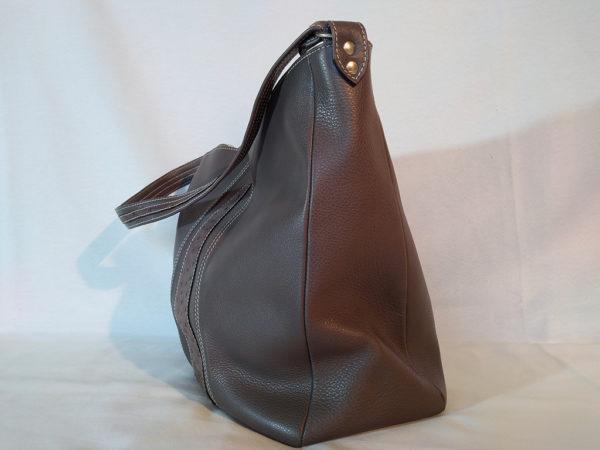 sac AmaZYa Nubuck gris profil