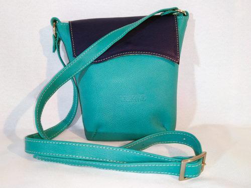 sac LunaZYa en cuir bleu face Po&ZYa