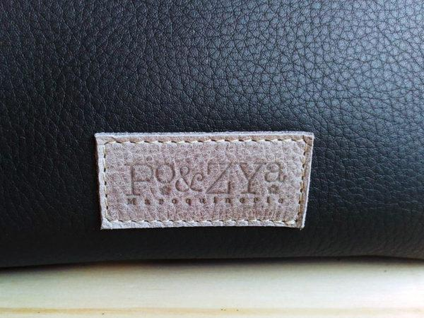 sac MinaZYa en cuir noir logo